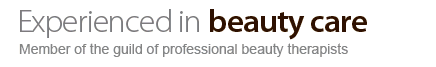 Experienced in beauty care, member of the guild of professional beauty therapists